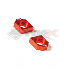 Piece Tendeur chaine YCF CNC ORANGE 15mm de Pit Bike et Dirt Bike