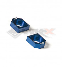 Piece Tendeur chaine YCF CNC BLEU 15mm de Pit Bike et Dirt Bike