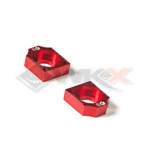 Piece Tendeur chaine YCF CNC ROUGE 15mm de Pit Bike et Dirt Bike