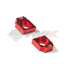 Piece Tendeur chaine YCF FACTORY ROUGE 15mm de Pit Bike et Dirt Bike