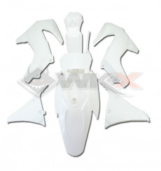 Piece Kit plastique MXF BLANC de Pit Bike et Dirt Bike