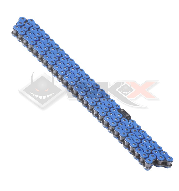 Chaine transmission 420 YCF 110 maillons BLEU