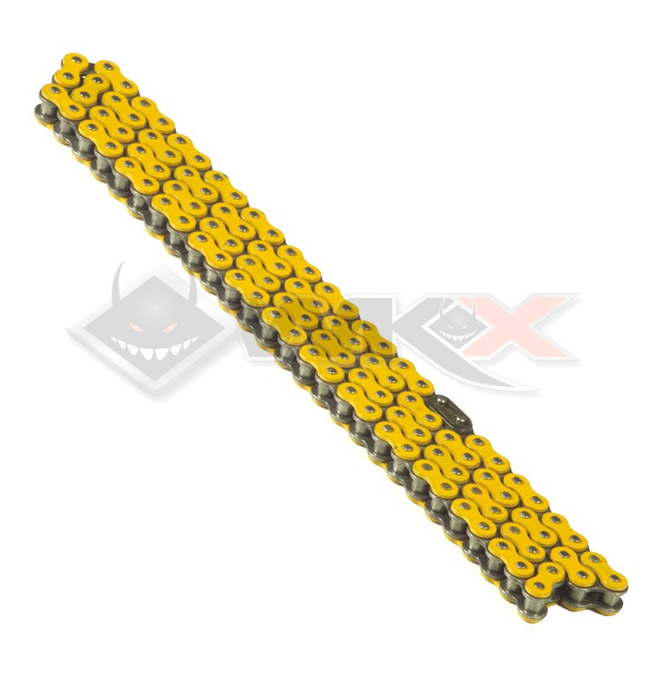 Chaine transmission 420 YCF 110 maillons JAUNE
