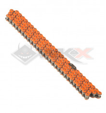 Piece Chaine transmission 420 YCF 110 maillons ORANGE de Pit Bike et Dirt Bike