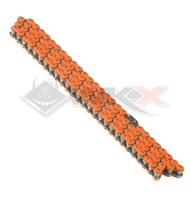 Chaine transmission 420 YCF 110 maillons ORANGE