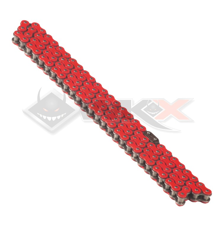 Chaine transmission 420 YCF 110 maillons ROUGE