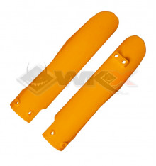 Piece Protection fourche YCF 50 ORANGE de Pit Bike et Dirt Bike