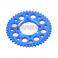 Piece Couronne aluminium YCF axe 75mm 43 dents 420 BLEU de Pit Bike et Dirt Bike