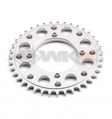 Piece Couronne aluminium YCF axe 75mm 43 dents 420 GRIS de Pit Bike et Dirt Bike