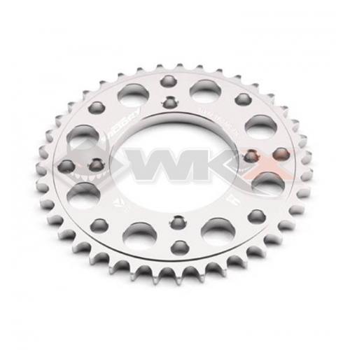 Piece Couronne aluminium YCF axe 75mm 45 dents 420 GRIS de Pit Bike et Dirt Bike