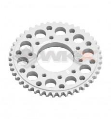 Piece Couronne aluminium YCF FACTORY axe 75mm 43 dents 420 GRIS de Pit Bike et Dirt Bike