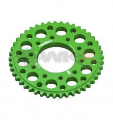 Piece Couronne aluminium YCF FACTORY axe 75mm 45 dents 420 VERT de Pit Bike et Dirt Bike