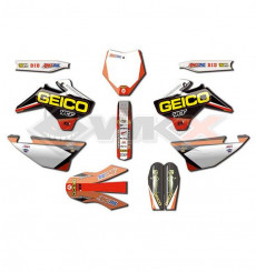 Piece Kit décoration D'COR YCF GEICO de Pit Bike et Dirt Bike