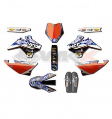 Piece Kit décoration D'COR YCF STAR RACING CAMO de Pit Bike et Dirt Bike