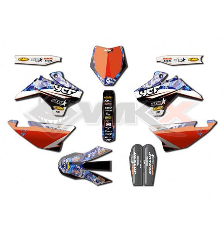 Kit décoration D'COR YCF STAR RACING CAMO