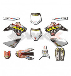 Piece Kit décoration YCF GEICO START / PILOT / FACTORY de Pit Bike et Dirt Bike