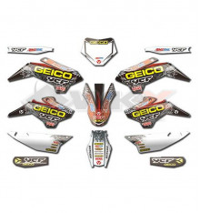 Piece Kit décoration YCF GEICO PILOT / FACTORY  de Pit Bike et Dirt Bike