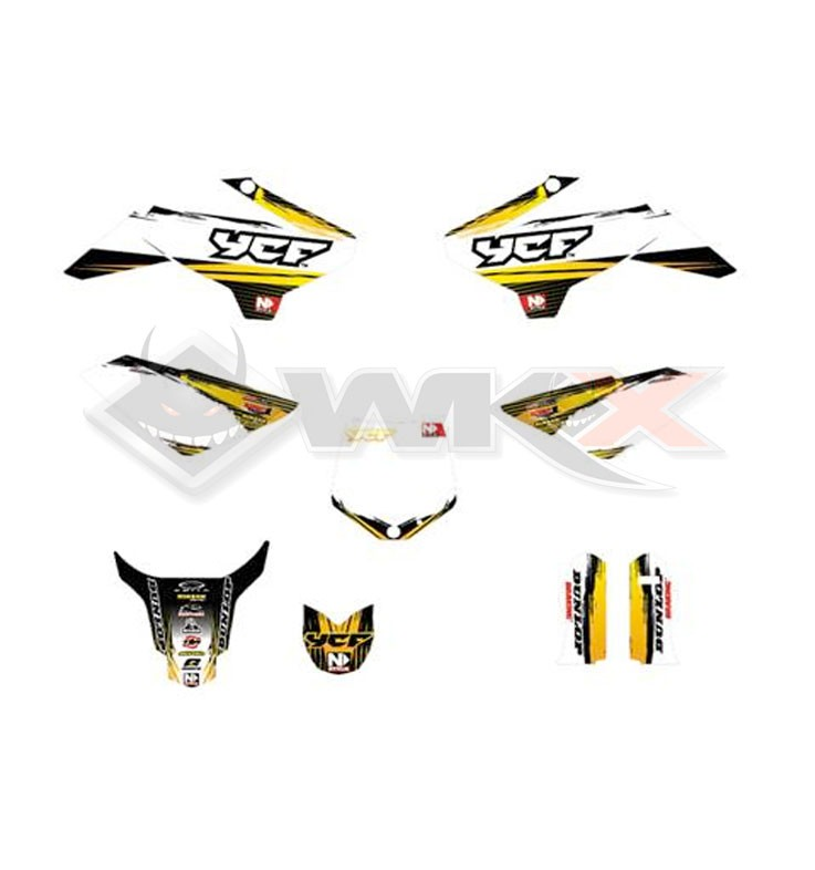 Kit décoration YCF 50A NSTYLE ACCELERATOR JAUNE