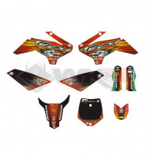 Piece Kit décoration YCF 50A NSTYLE OF TROY ROUGE de Pit Bike et Dirt Bike