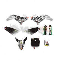 Piece Kit décoration YCF 50A NSTYLE OF TROY BLANC de Pit Bike et Dirt Bike