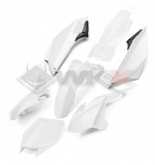 Piece Kit plastique YCF EVO BLANC de Pit Bike et Dirt Bike