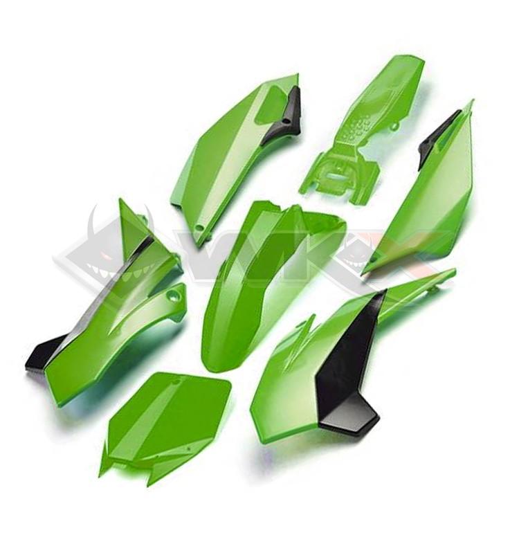 Kit plastique YCF FACTORY VERT