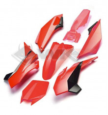 Piece Kit plastique YCF FACTORY ROUGE de Pit Bike et Dirt Bike