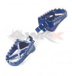 Piece Repose pieds YCF aluminium BLEU de Pit Bike et Dirt Bike