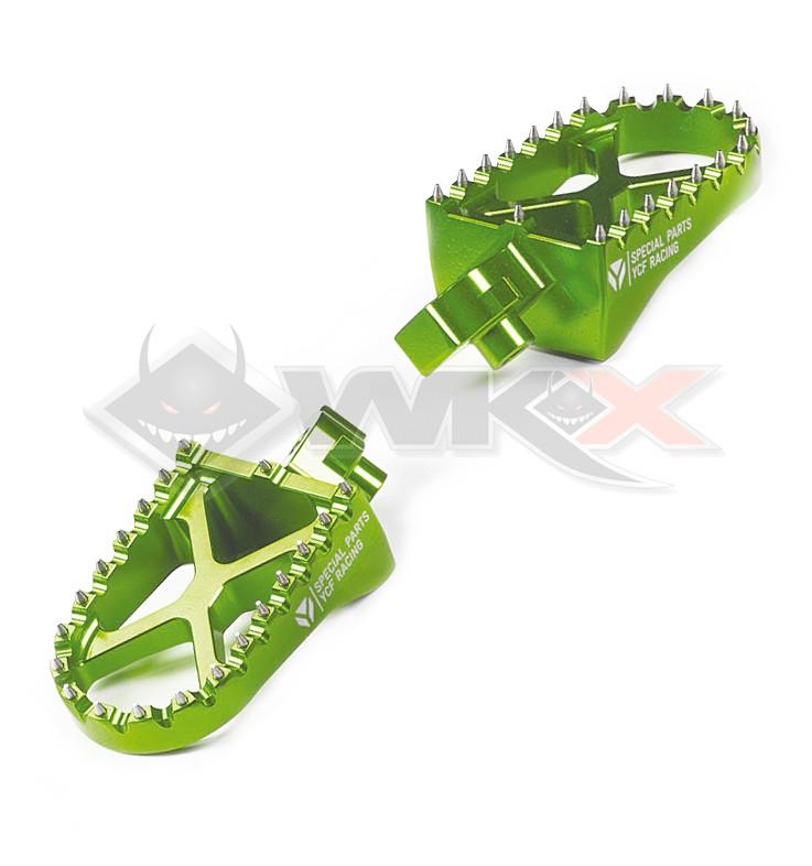 Repose pieds YCF aluminium VERT