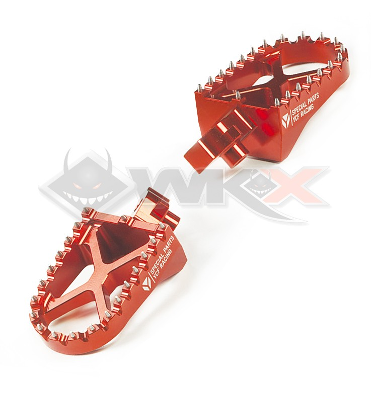 Repose pieds YCF aluminium ORANGE
