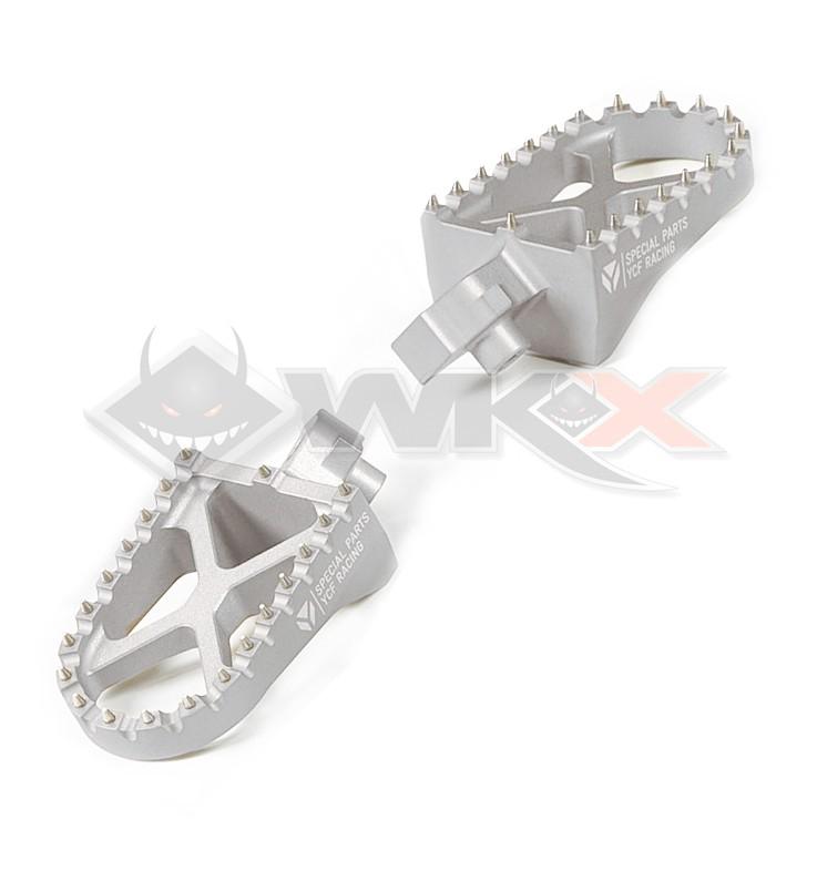 Repose pieds YCF aluminium GRIS