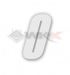 Piece Numéro 0 plaque YCF 8cm BLANC de Pit Bike et Dirt Bike