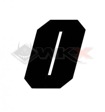 Piece Numéro 0 plaque YCF 11cm NOIR de Pit Bike et Dirt Bike