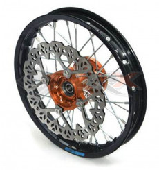 Piece Jante avant aluminium YCF 12' ORANGE de Pit Bike et Dirt Bike