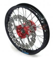 Piece Jante avant aluminium YCF 12' ROUGE de Pit Bike et Dirt Bike