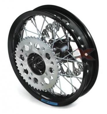 Piece Jante arrière aluminium YCF 12' NOIR de Pit Bike et Dirt Bike