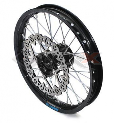 Piece Jante avant aluminium YCF 14' NOIR de Pit Bike et Dirt Bike