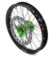 Piece Jante avant aluminium YCF 14' VERT de Pit Bike et Dirt Bike