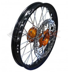 Piece Jante avant aluminium YCF 14' ORANGE de Pit Bike et Dirt Bike
