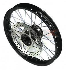 Piece Jante avant aluminium renforcée YCF 14' NOIR de Pit Bike et Dirt Bike