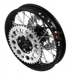 Piece Jante arrière acier YCF 50 NOIR de Pit Bike et Dirt Bike