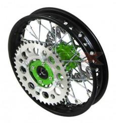 Piece Jante arrière acier YCF 50 VERT de Pit Bike et Dirt Bike