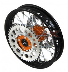 Piece Jante arrière acier YCF 50 ORANGE de Pit Bike et Dirt Bike