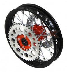 Piece Jante arrière acier YCF 50 ROUGE de Pit Bike et Dirt Bike