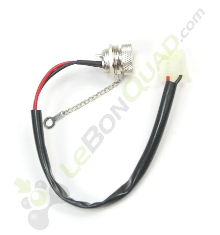 Prise connexion chargeur de pocket cross électrique