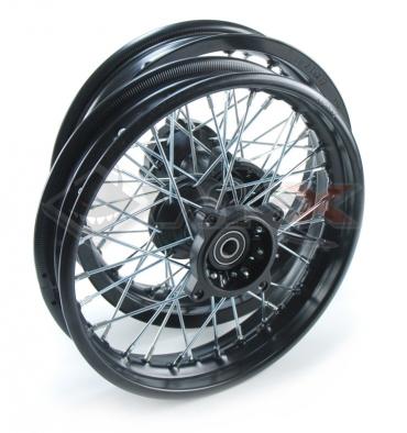 Piece Set de jantes acier supermotard 12x1,85 axe 15mm de Pit Bike et Dirt Bike