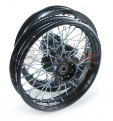 Piece Set de jantes acier supermotard 12x1,85 axe 15 mm de Pit Bike et Dirt Bike