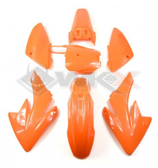 Piece Kit plastique CRF 70 ORANGE de Pit Bike et Dirt Bike