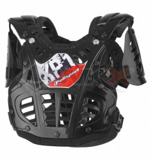 Piece Plastron enfant POLISPORT XP1 NOIR de Pit Bike et Dirt Bike