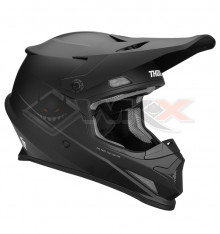 Piece Casque THOR Sector Blackout taille S NOIR MAT de Pit Bike et Dirt Bike